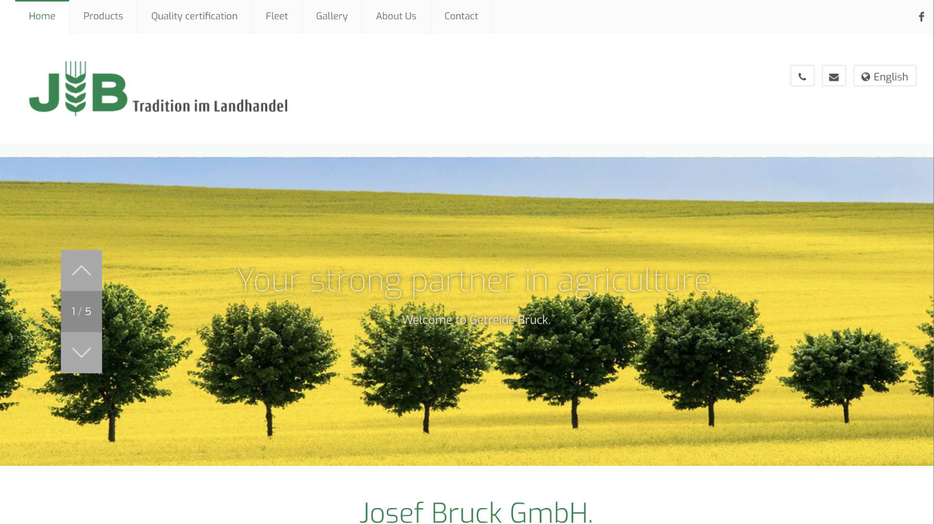 Josef Bruck GmbH Screenshot of the company website